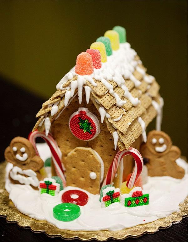 25 increibles  adornos de navidad hechos a mano - casita de gengibre