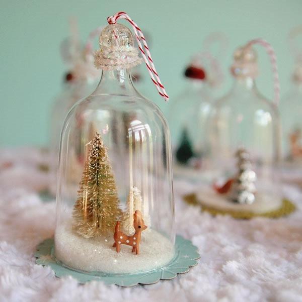 25 increibles  adornos de navidad hechos a mano - campanitas retro