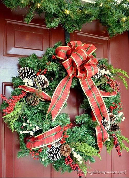 25 increibles  adornos de navidad hechos a mano - corona de navidad