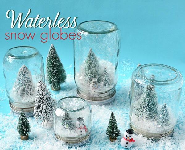 25 increibles  adornos de navidad hechos a mano - globos de nieve sin agua