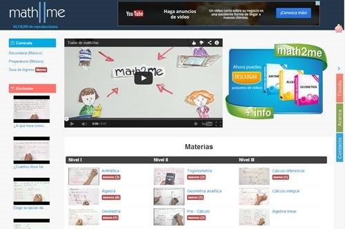 5 mejores webs matematicas - math2me