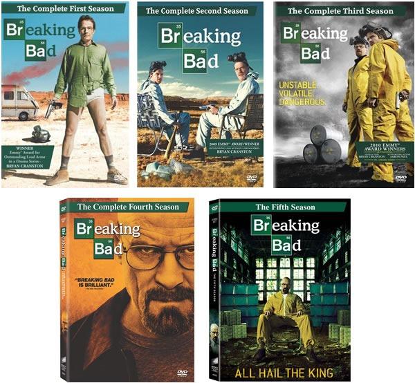 Breaking Bad: Temporadas 1, 2, 3, 4 y 5 en DVD