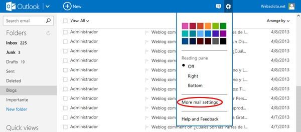 Cómo poner una firma personal en mi correo de Hotmail o Outlook - Paso 1