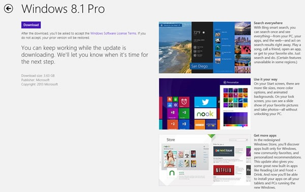 como descargar windows 8 1 version final de actualizacion 3