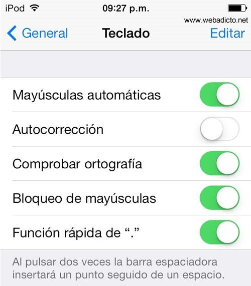como quitar el corrector ortografico al iphone - autocorreccion