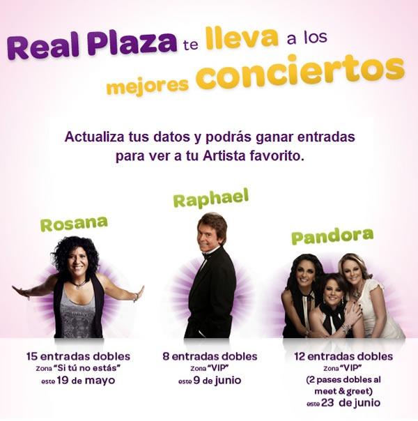 gana-entradas-concierto-rosana-raphael-pandora-real-plaza-2012