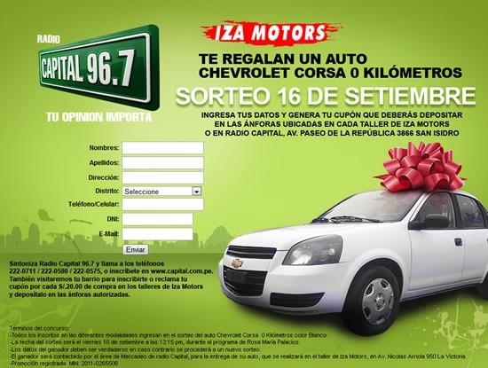 ganar-auto-chevrolet-corsa-radio-capital-iza-motors-2011