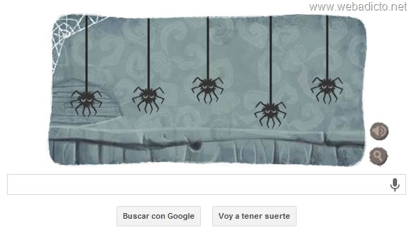 google doodle halloween 2013 botella de veneno y manzan