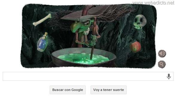 google doodle halloween 2013 caldero