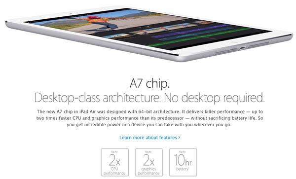 nuevo ipad air caracteristicas chip a7