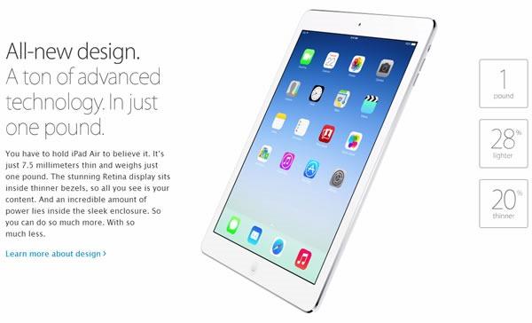 nuevo ipad air caracteristicas design