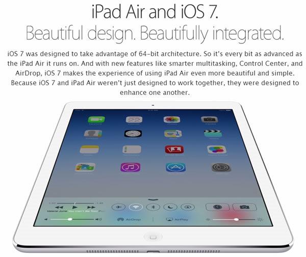 nuevo ipad air caracteristicas ios7