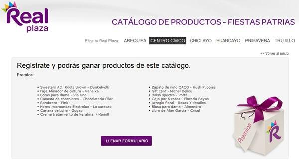 real-plaza-sorteo-regalos-productos-catalogo-peru-julio-2012