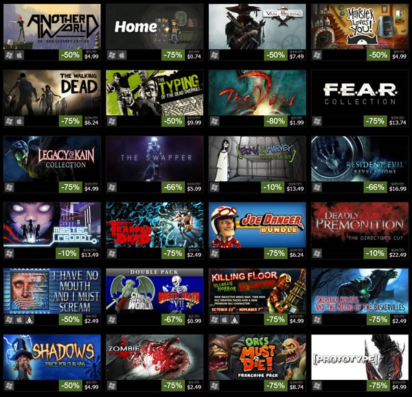 rebajas videojuegos steam halloween 2013 2