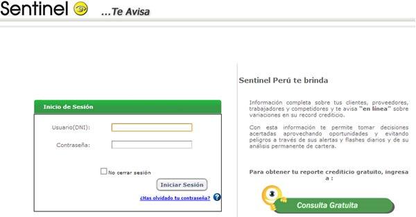 sentinel consulta gratis deudas por internet