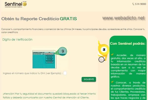 sentinel consulta gratis deudas por internet reporte crediticio 3